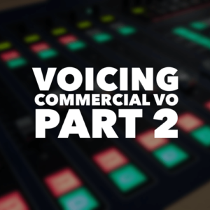 In this second of two classes on the most common category of work, commercial copy occupies a special place in the rainbow of work you will encounter in your voiceover career. Especially here in the US, where broadcast television and radio is almost entirely advertiser supported, honing your performance skills in commercial copy is paramount.
