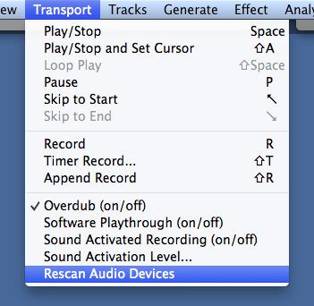 audacity-transport-menu-rescan-audio-devices - vo2gogo com