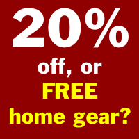 20 pct off or free home gear