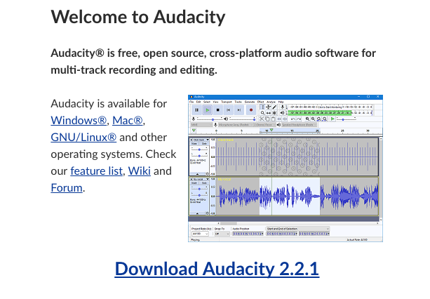 download free audacity latest version